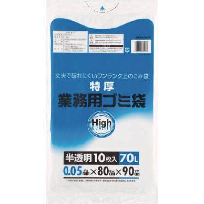 ワタナベ 業務用ポリ袋70L特厚白半透明(10枚入) 5M-80D 10枚