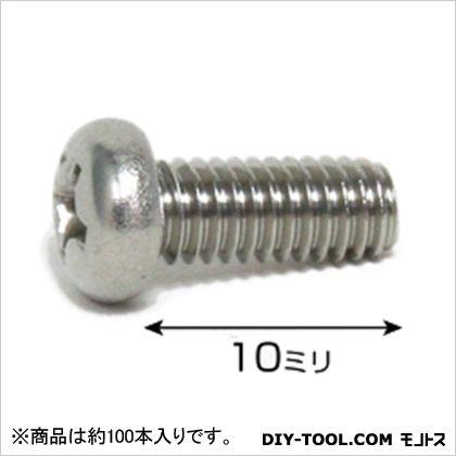 ステンレス鍋小ネジ ISO  4×10 75543 1袋(約100本)