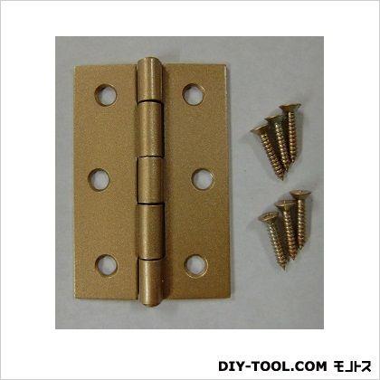 フジテック カラー丁番 ゴールド 64mm 11015 20枚