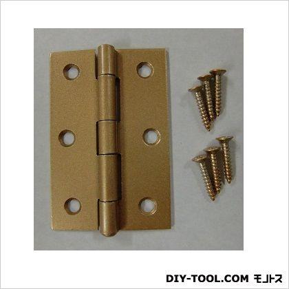 フジテック カラー丁番 ゴールド 76mm 11016 20枚