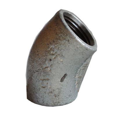 配管(ガス管)パーツねじ込み式45°エルボ  呼び径A:15呼びB:1/2