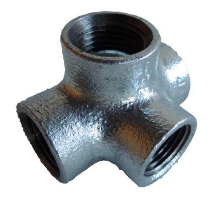 配管(ガス管)パーツねじ込み式四方チーズ  呼び径A:15呼びB:1/2