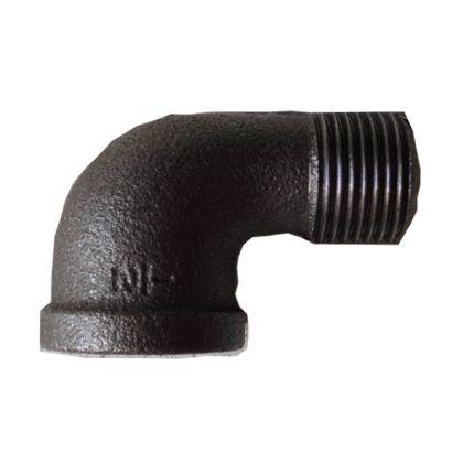 配管(ガス管)パーツねじ込み式おすめすエルボ(ストリートエルボ)  呼び径A:15呼びB:1/2