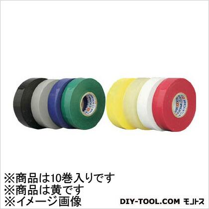 パイロン ミリオンビニルテープ19mm×10m黄10巻入り 64 x 69 x 200 mm 10巻