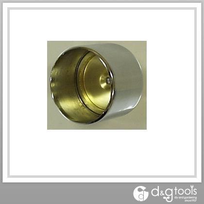 真鍮クロームパイプ2重ソケット13 クロームメッキ・生地 φ12.7mm用