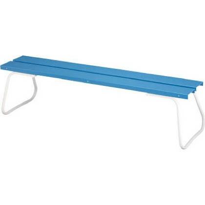 コンドル(屋外用ベンチ)樹脂ベンチ背なしECONO1800 ブルー×ホワイト  YB-97L-PC