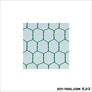 ビニール亀甲金網 グリーン 巾×長さ:910mm×30m #20×16mm目