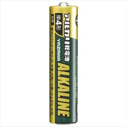 ヤザワ 単4アルカリ乾電池ブリスターパック4P ブリスター:W66mm×H117mm×D12mm LR03Y4B 4本