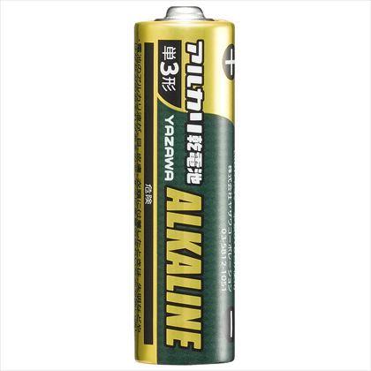 ヤザワ 単3アルカリ乾電池ブリスターパック4P ブリスター:W66mm×H117mm×D16mm LR6Y4B 4本