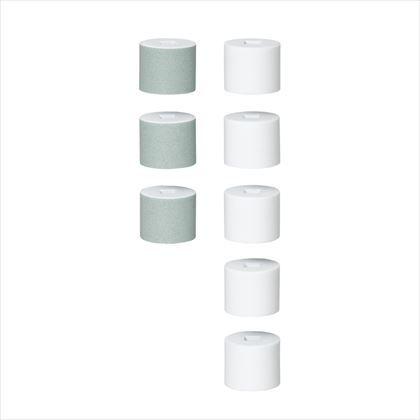 ヤザワ ネイルポリッシャー交換用アタッチメント 緑/白 約径24mm×H2mm CHA404