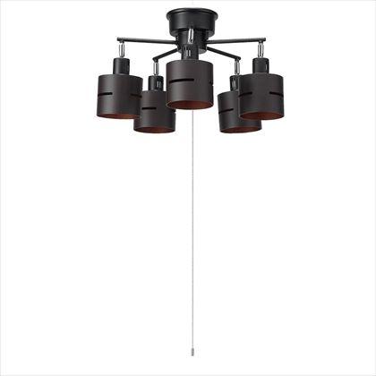 【送料無料】ヤザワ 5灯ウッドセードシーリングダークウッド ナチュラル 約径600mm×H270mm CEX60X02DW