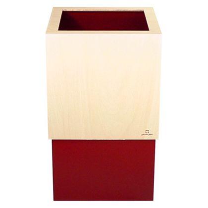 ゴミ箱WCUBE レッド 約幅20.0×奥行20.0×高さ33.0(cm) 212685