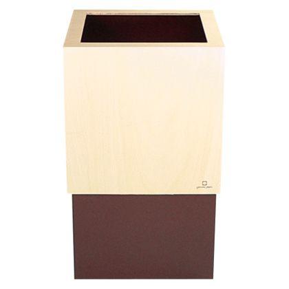 ゴミ箱WCUBE ブラウン 約幅20.0×奥行20.0×高さ33.0(cm) 212687