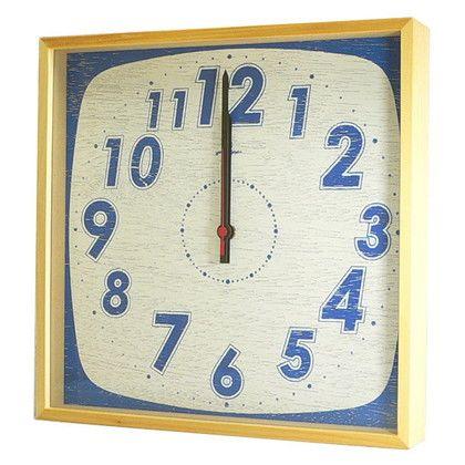 ヤマト工芸 掛け時計 TASTE CLOCK レトロ ブルー 幅29×奥行4.5×高さ29(cm) YK10-101