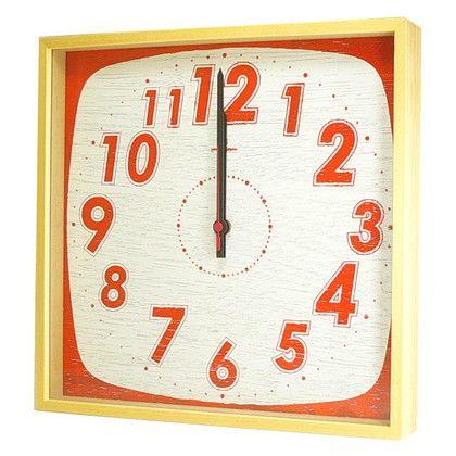 ヤマト工芸 掛け時計 TASTE CLOCK レトロ オレンジ 幅29×奥行4.5×高さ29(cm) YK10-101