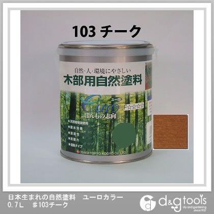 カクマサ/大阪塗料 日本生まれの自然塗料ユーロカラー ♯103チーク 0.7L