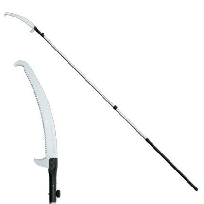 シルキー はやうち2段セット(2.2~3.7M)(鋸本体・のこぎり)高枝鋸 390mm 177-39