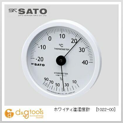 ホワイティ温湿度計   1022-00