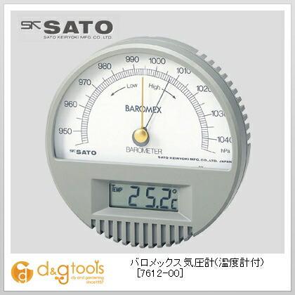 【送料無料】SATO バロメックス気圧計(温度計付) 7612-00