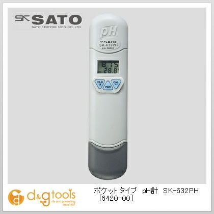 SATO ポケットタイプpH計SK-632PH(pH・温度) 6420-00