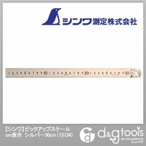ピックアップスケールcm表示 シルバー 30cm 13134