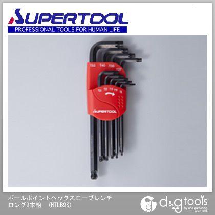 スーパーロングボールポイントヘックスローブレンチ(9本組)T8~T50   HTLB9S