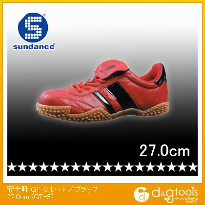 軽量スニーカータイプ安全靴 レッド/ブラック 27.0cm GT-3