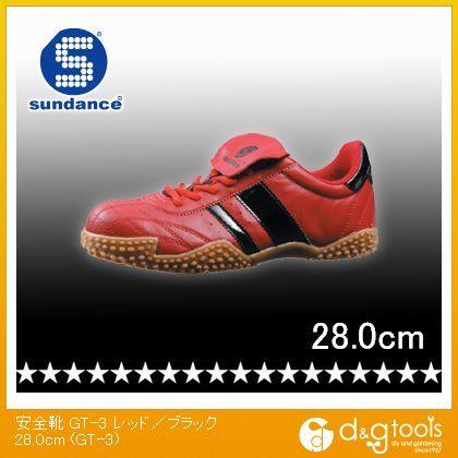 軽量スニーカータイプ安全靴 レッド/ブラック 28.0cm GT-3