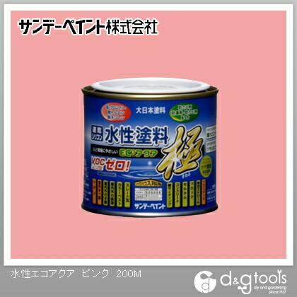 サンデーペイント 水性塗料エコアクア極 ピンク 1/5L(約200ml)
