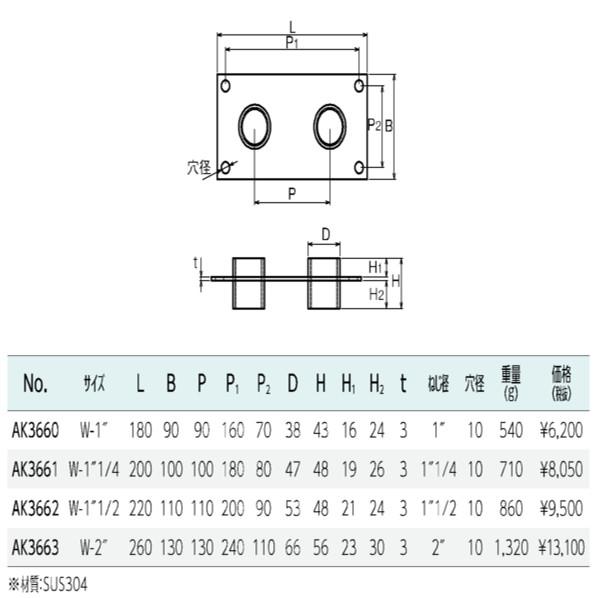 貫通ソケットダブルW-2