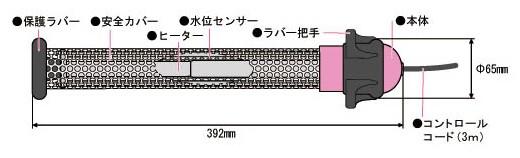 エスコ AC100V/915Wコントロールヒーター   EA896A-12