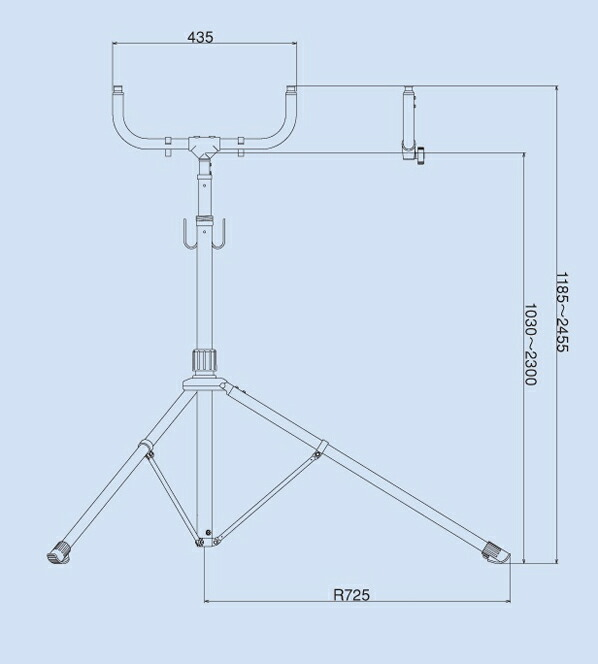 1180-2450mm作業灯スタンド