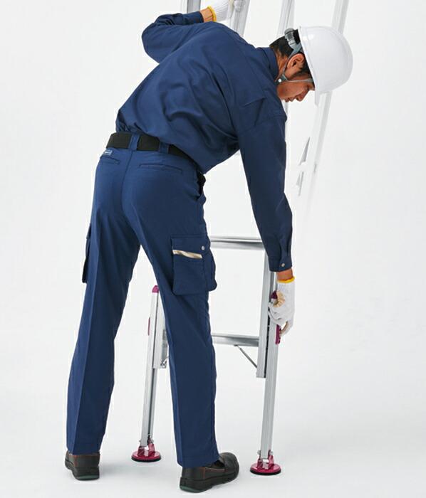 アルミ脚部伸縮式 2連梯子 ノビ型