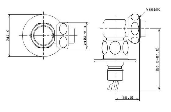 カクダイ 洗濯機用ニップル ストッパーつき (772-540)
