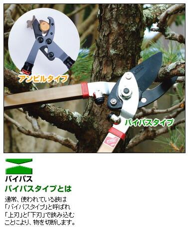 木柄太枝切鋏切断能力25mm