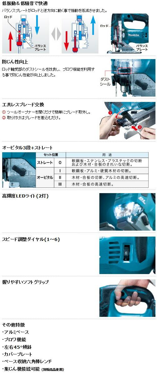 マキタ 充電式ジグソー (JPAJV142DRF)