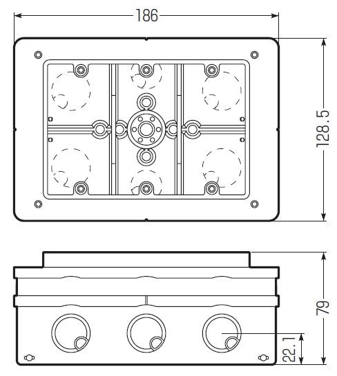 埋込スイッチボックス3個用大深形( 塗代カバー付)