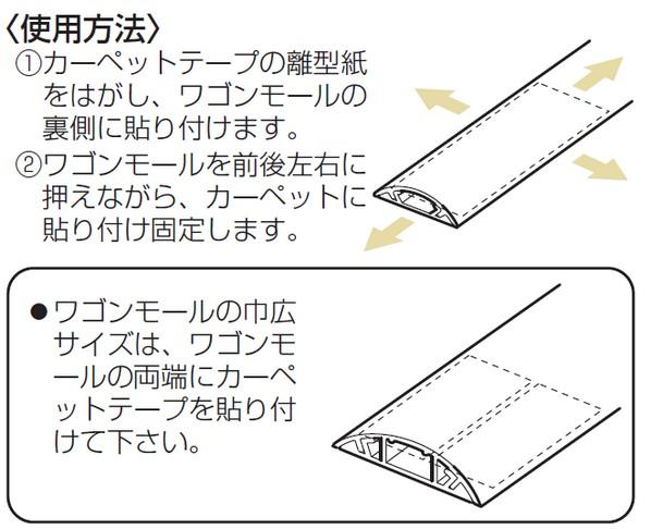 ワゴンモール用カーペットテープ 長尺タイプ