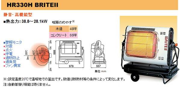 ジェットヒーターBRITE/赤外線暖房機