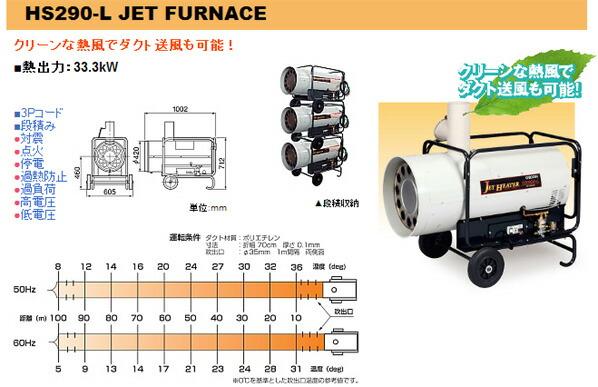 ジェットヒーターHP/熱交換式温風機 50Hz