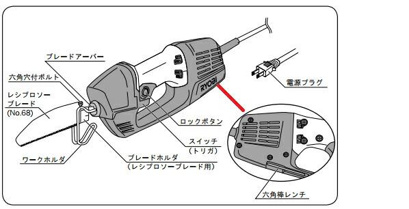 RYOBI/リョービ リョービ 電気のこぎり 100V ASK-1000 粗大ごみ 解体 のこぎり