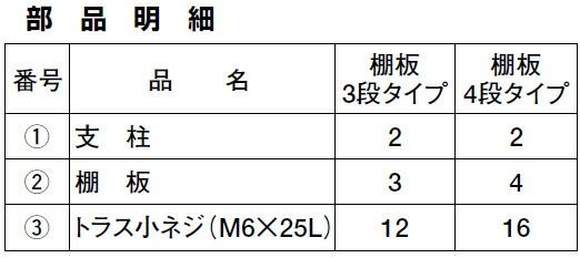 CSワゴンヨコ型(パールホワイト)