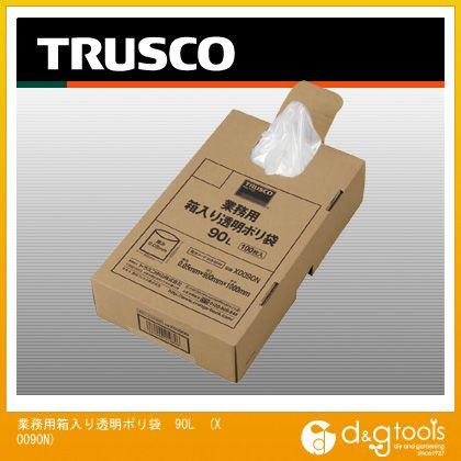 【送料無料】トラスコ(TRUSCO) 業務用ポリ袋透明・箱入り0.05X90L(100枚入) 470 x 285 x 120 mm X0090N 100枚