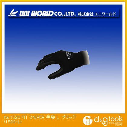 FITSNIPER手袋 ブラック L 1520-L
