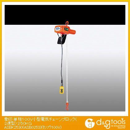 単相100V小型電気チェーンブロック(2速型)250KG   ASB-K2530
