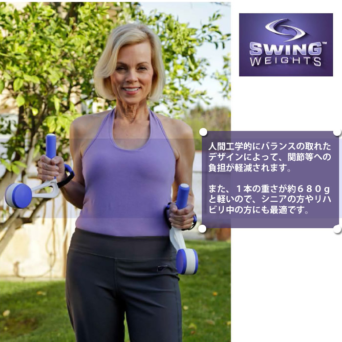 スイングウエイト【Swing Weights】を付けてウォーキングするだけ、振り子運動でシェイプアップ!