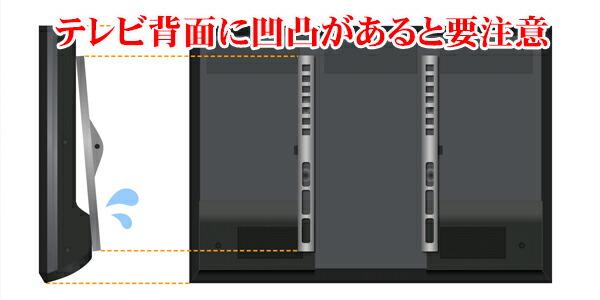 テレビ壁掛け金具の種類は3タイプ