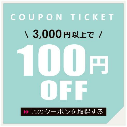 3千円以上で100円OFFクーポン