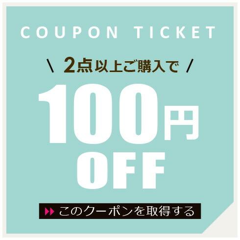 2点以上で100円OFFクーポン