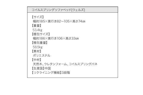 コイルスプリングソファベッド 【Welz】ウェルズ